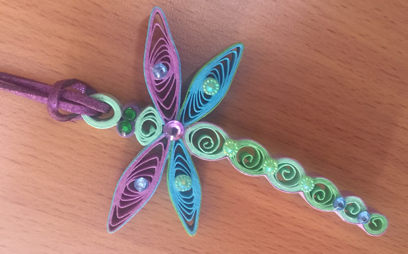 Libellula Sma in Quilling